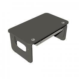 Письменный стол трансформер ERGO с кабель-каналом ER-1200-700K