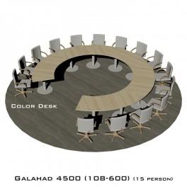 Galahad 4500 (108-600) стол круглый (без одного звена) для переговоров и конференций на 15 человек