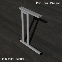Опора левая CR-L-580 (L) металлокаркаса CROC для письменных столов с глубиной столешниц от 600 мм без декоративной накладки
