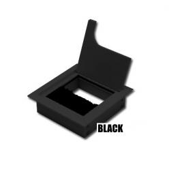 Лючок CD-Q80B (black) встраиваемый в столешницу квадратный