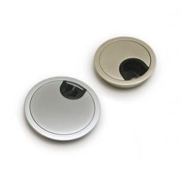 """Заглушка """"Алюминий-80"""" в отверстие для проводов диаметр 80 мм"""